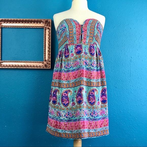 Anthropologie Dresses & Skirts - Anthro Maple silk floral paisley print dress, 6